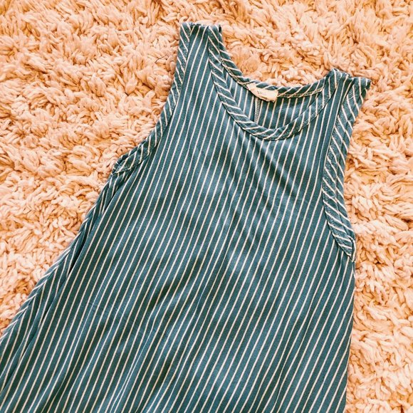 Pinc Dresses & Skirts - Pinc Blue & White Striped Sleeveless Dress